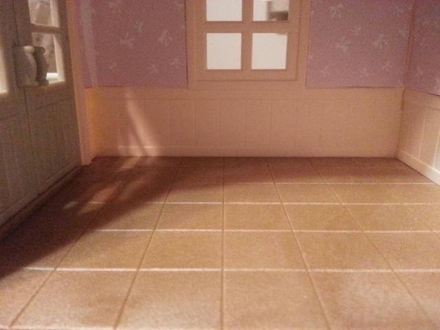 Tiled? Floor.